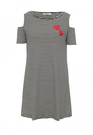 Платье Desigual. Цвет: черно-белый