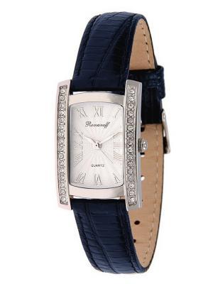 Часы наручные Romanoff. Цвет: темно-синий, белый, серебристый