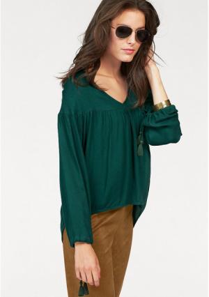 Блузка Aniston. Цвет: темно-зеленый