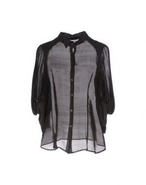 Pубашка 6267. Цвет: темно-коричневый
