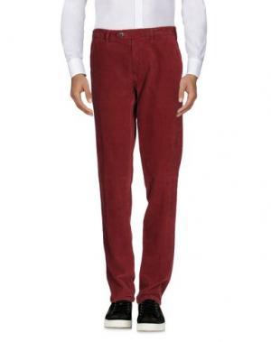 Повседневные брюки LUIGI BIANCHI MANTOVA. Цвет: кирпично-красный