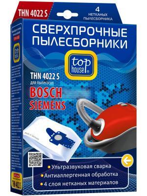 Top house E THN 4022 S Cверхпрочные нетканые пылесборники, 4 шт. Цвет: синий