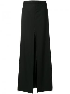 Двухслойные брюки-палаццо Chalayan. Цвет: чёрный