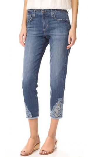 Укороченные прямые джинсы Smith Joe's Jeans. Цвет: умеренно-синий с эффектом поношенности