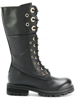 Армейские ботинки Twin-Set. Цвет: чёрный