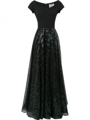 Платье с пайетками Ingie Paris. Цвет: чёрный