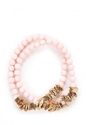 Комплект браслетов 2 шт. Modis. Цвет: розовый