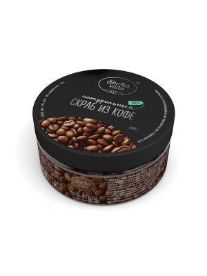 Скраб натуральный Кофе Shelka Vista 300g (мужская серия) SHELKAVISTA. Цвет: темно-коричневый