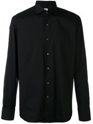 Классическая узкая рубашка Alessandro Gherardi. Цвет: чёрный