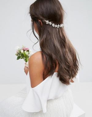 ASOS Украшение для волос с цветами WEDDING. Цвет: очистить