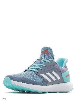 Кроссовки RapidaRun K  GREY/FTWWHT/CLAQUA Adidas. Цвет: серый, голубой
