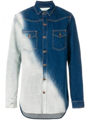 Свободная джинсовая рубашка Off-White. Цвет: синий