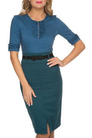 Платье Gloss. Цвет: синий, зеленый, черный