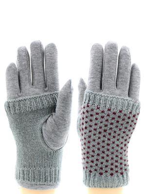 Перчатки HOBBY LINE. Цвет: бордовый, серый