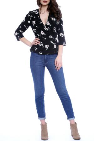 BLOUSE Emma Monti. Цвет: black and floral print
