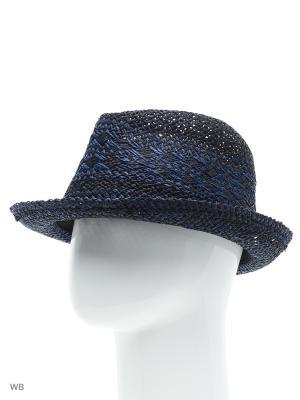 Шляпа Luhta. Цвет: синий, коричневый