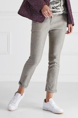 Комбинированные брюки No Name. Цвет: серый