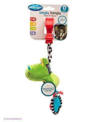 Игрушка-подвеска Крокодильчик Playgro. Цвет: зеленый