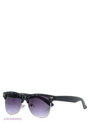 Солнцезащитные очки KEDDO. Цвет: черный, серый