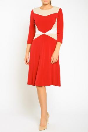 Платье Bellissima. Цвет: red, cream, white
