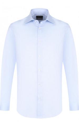 Хлопковая сорочка с воротником кент Pal Zileri. Цвет: голубой