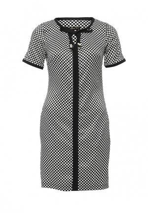 Платье Piena. Цвет: черно-белый