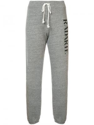 Спортивные брюки с логотипом Rodarte. Цвет: серый