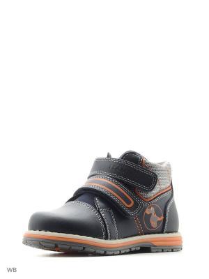 Ботинки Flamingo. Цвет: темно-синий, оранжевый