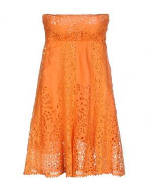 Короткое платье TEMPTATION. Цвет: оранжевый