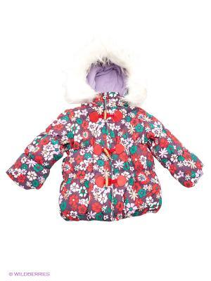 Куртка Baby Club. Цвет: фиолетовый, белый, красный
