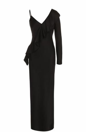 Приталенное платье-макси асимметричного кроя Diane Von Furstenberg. Цвет: черный