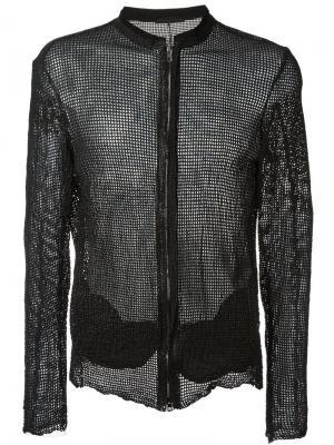 Сетчатая куртка Salvatore Santoro. Цвет: чёрный