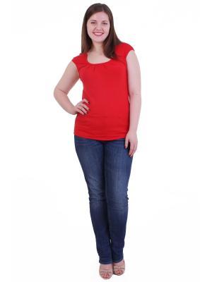 Блузка Regina Style. Цвет: красный