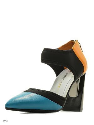 Туфли UNITED NUDE. Цвет: черный, синий, оранжевый