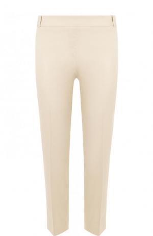 Однотонные укороченные брюки со стрелками Weill. Цвет: бежевый