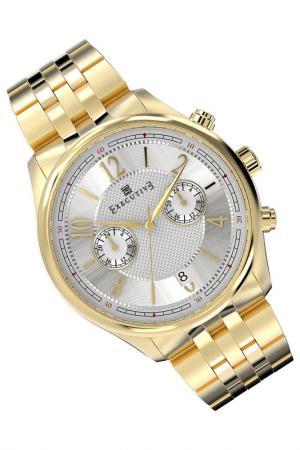 Часы Executive. Цвет: золотой