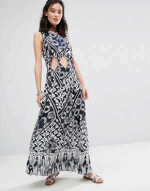 Raga Платье с вырезами Tropic Blues. Цвет: темно-синий