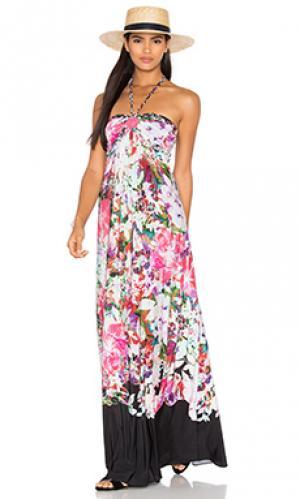 Платье tammra sky. Цвет: розовый