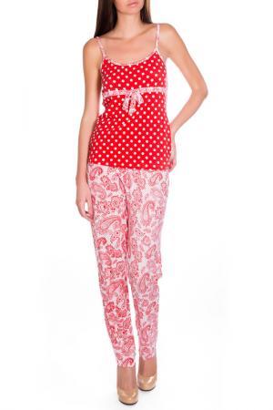 Брюки пижамные Rose&Petal Homewear. Цвет: принт огурцы