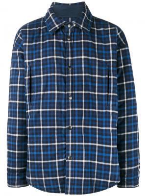Куртка-рубашка в клетку Balenciaga. Цвет: синий