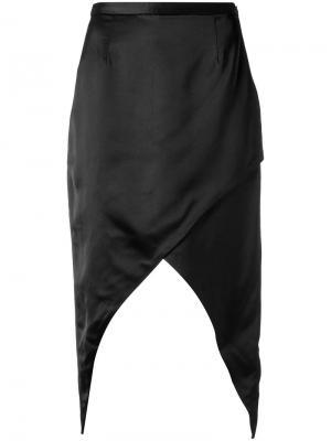 Асимметричная юбка миди Adriana Degreas. Цвет: чёрный