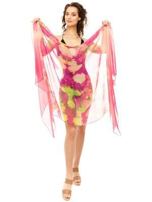 Парео женское Auri. Цвет: фиолетовый, персиковый
