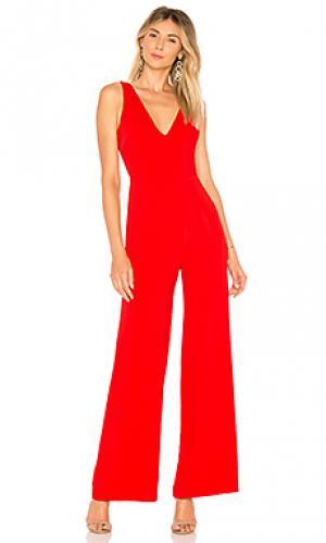 Пляжный костюм с широкими брюками carmela by the way.. Цвет: красный