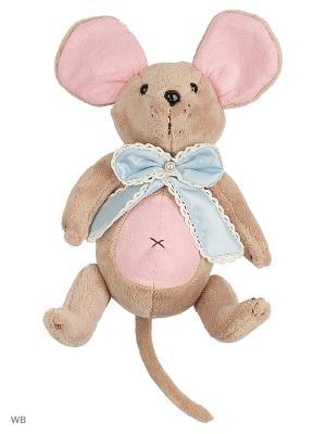 Мышка шарнирная Вaby mouse Бусинка с бантом Fluffy Family. Цвет: розовый, серый, голубой