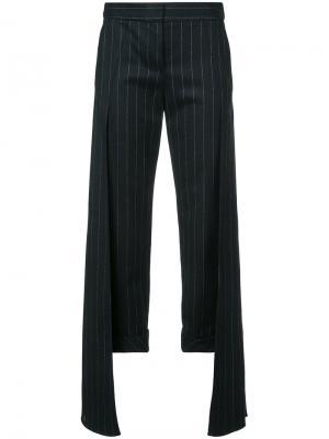 Pinstripe layered trousers Hellessy. Цвет: чёрный