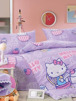 Комплект постельного белья, Kitty Lavender, 1.5 спальный (детский) KAZANOV.A.. Цвет: фиолетовый