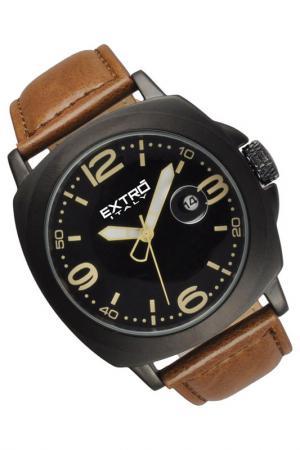 Наручные часы Extro. Цвет: black and brown