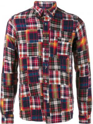 Лоскутная фланелевая рубашка Sophnet.. Цвет: многоцветный