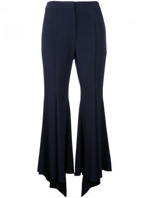 Укороченные расклешенные брюки Goen.J. Цвет: синий