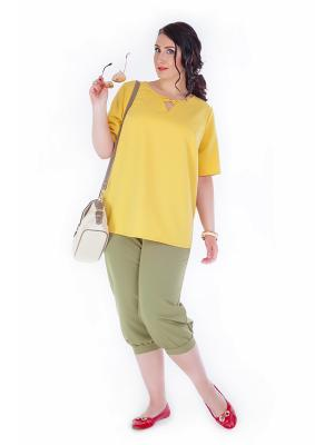 Блуза Darissa Fashion. Цвет: золотистый